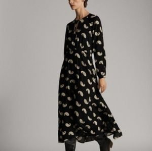 MASSIMO DUTTI paisley print maxi dress